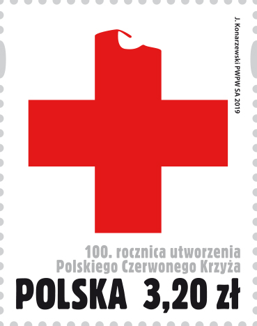 波兰1月18日发行波兰红十字会成立100周年