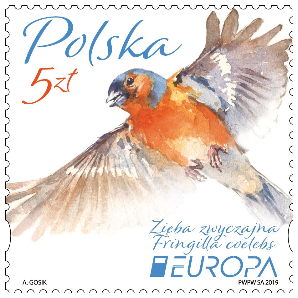 波兰4月24日发行欧罗巴2019国家鸟类邮票