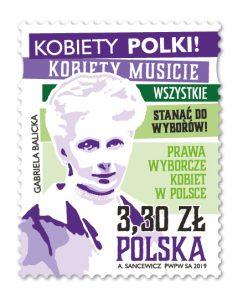 波兰11月28日发行波兰妇女投票权邮票