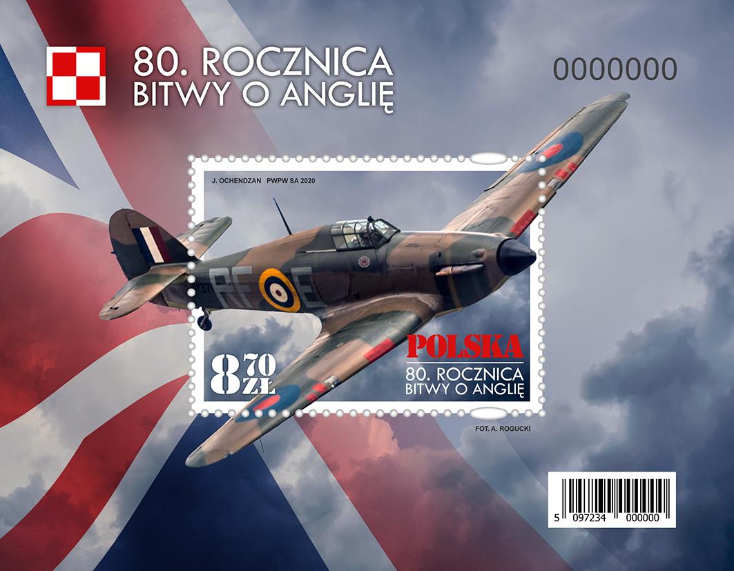 波兰10月28日发行不列颠之战80周年小型张