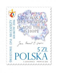 波兰4月27日发行世界青年日邮票