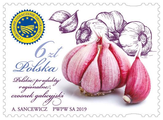 波兰6月28日发行波兰地区产品大蒜邮票