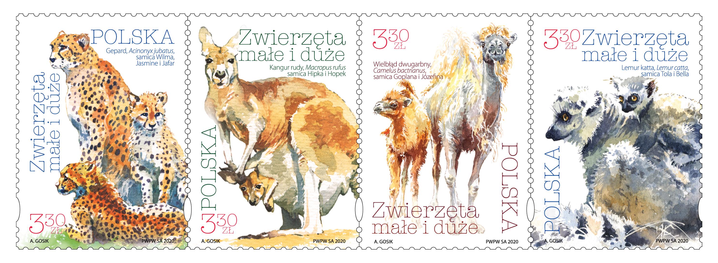 波兰6月15日发行动物邮票