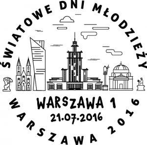 datownik ŚDM Warszawa 1