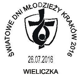 datownik ŚDM stały ozdobny ze zmienną datą Wieliczka