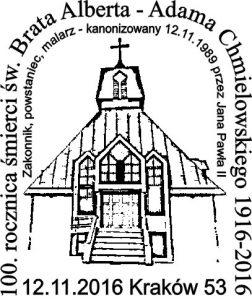 datownik okolicznościowy 12.11.2016 Kraków