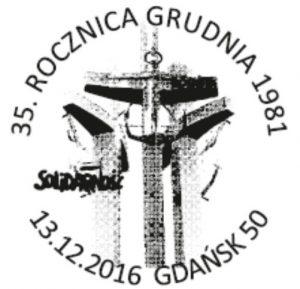 datownik okolicznościowy 13.12.2016 Gdańsk