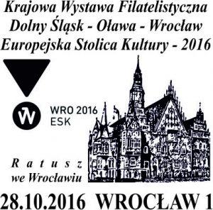datownik okolicznościowy 28.10.2016 Wrocław