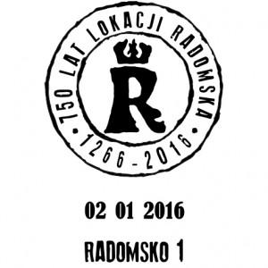 datownik okolicznościowy ze zmienną datą 02.01.2016 Łódź