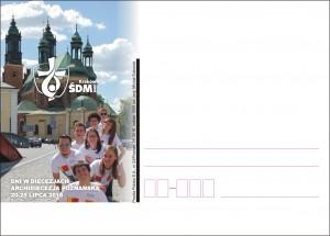 kartka okolicznościowa ŚDM Poznań