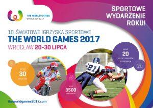 波兰4月9日2017年世界运动会弗罗茨瓦夫明信片