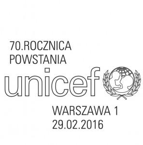 70 rocznica UNICEF datownik