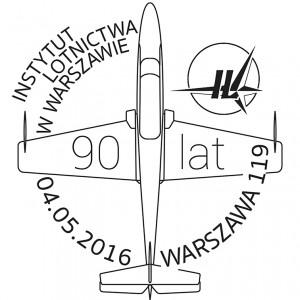 90 lat Instytutu Lotnictwa datownik