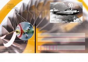 90 lat Instytutu Lotnictwa kartka