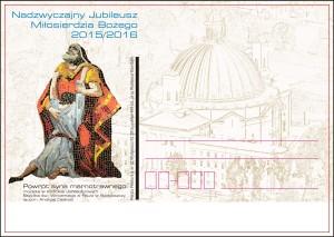 kartka okolicznościowa-Nadzwyczajny Jubileusz Miłosierdzia Bożego