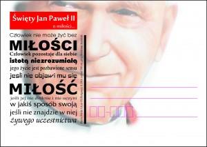 kartka okolicznościowa Świety Jan Paweł II - o miłości