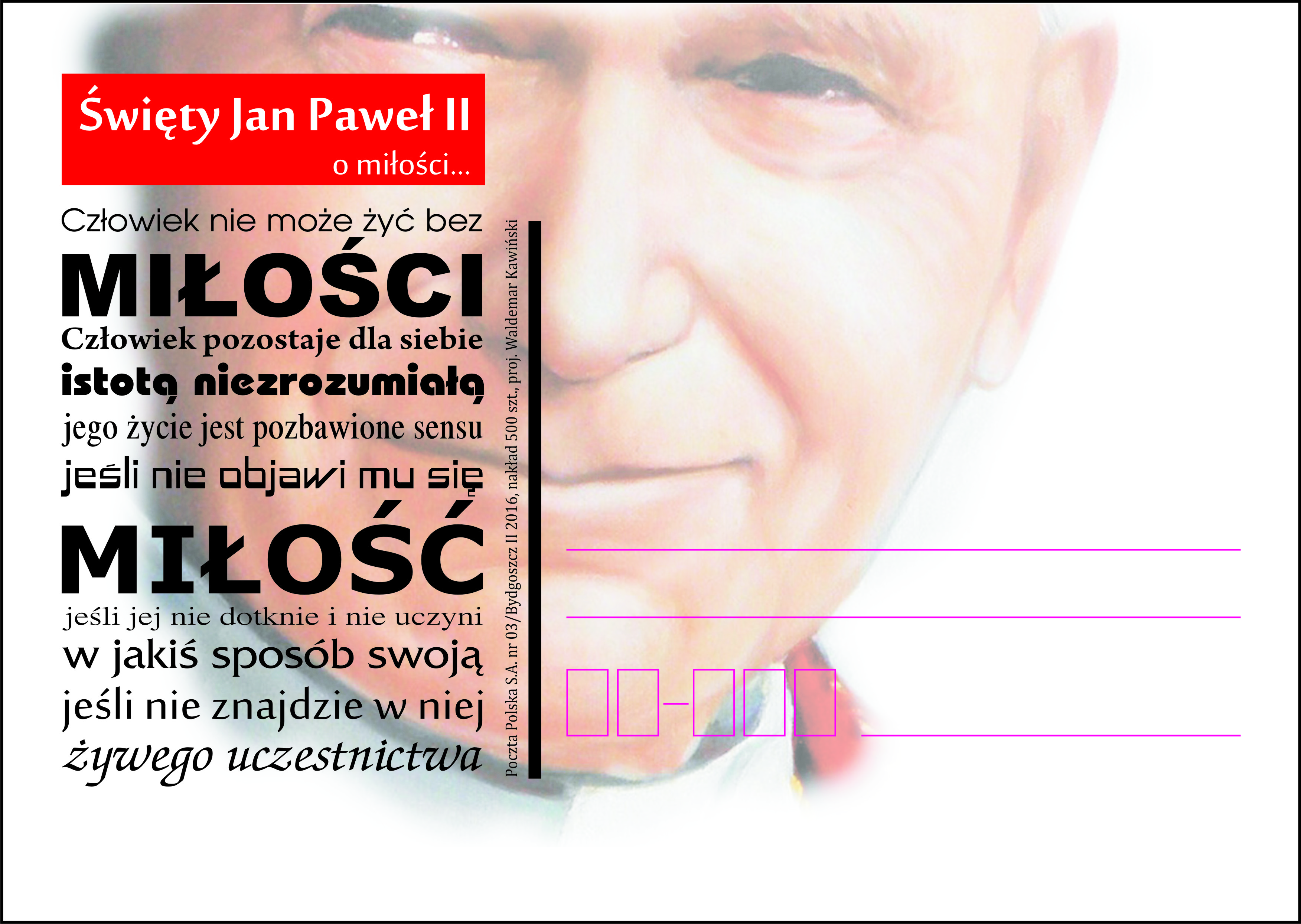 Kartka Okolicznościowa świety Jan Paweł Ii O Miłości
