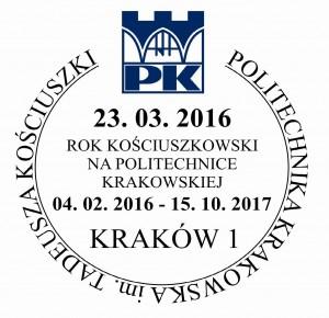 Datownik okolicznościowy 23.03.2016 Kraków