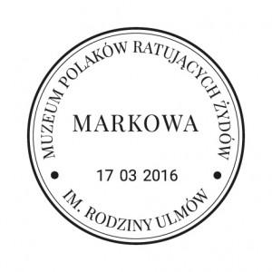Datownik stały ozdobny ze zmienną datą 17.03.2016 Kraków